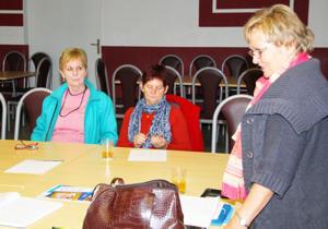Spotkanie prowadziła prezes klubu Danuta Barabach