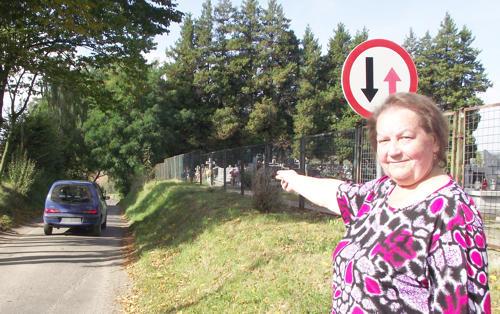 Helena Zarzycka, radna powiatowa zwróciła się do Powiatowego Zarządu Dróg o zmianę organizacji ruchu przy cmentarzu w Siemisławicach w święto Wszystkich Świętych