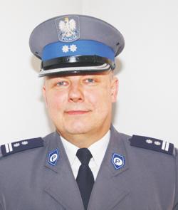 Mł. insp. Jacek Gałuszka, były komendant powiatowy policji w Strzelinie