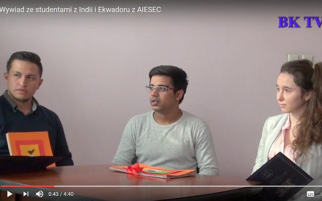 Wywiad ze studentami z Indii i Ekwadoru z AIESEC